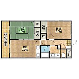 メゾン・ドゥ・ヨコヤマ[4階]の間取り