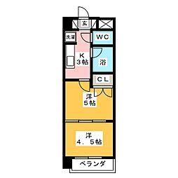 アルファ台原[2階]の間取り