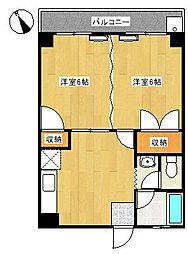 イカリハイツ[2階]の間取り