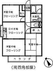 埼玉県さいたま市西区大字佐知川の賃貸アパートの間取り