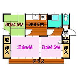[一戸建] 福島県郡山市亀田1丁目 の賃貸【/】の間取り