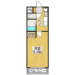 ザ・ブセナ稲荷新道[4階]の間取り