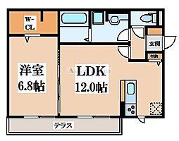 (仮称)D-room楠根[1階]の間取り