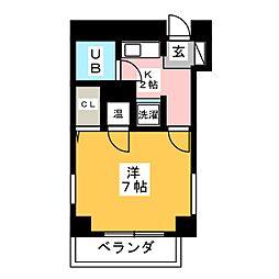 ラメール植田[3階]の間取り