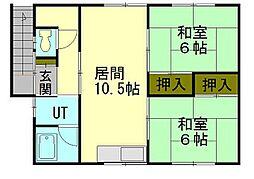 北海道小樽市住ノ江1丁目の賃貸アパートの間取り