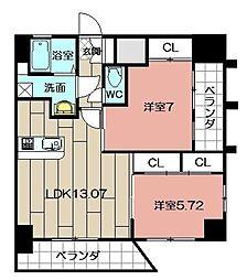Studie TOBIHATA[1007号室]の間取り