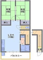 ハイツワタナベ1[east号室]の間取り