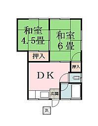 第二戸張荘[1階]の間取り