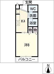 ワカバハイツ A[1階]の間取り