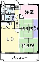福岡県福岡市西区拾六町3丁目の賃貸マンションの間取り