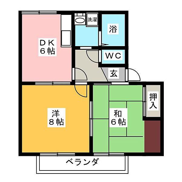 シルバンブリーズ B棟[1階]の間取り