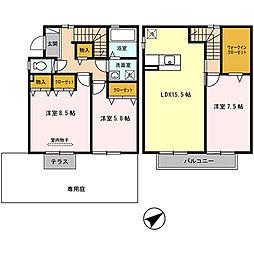 [テラスハウス] 兵庫県神戸市北区八多町中 の賃貸【/】の間取り
