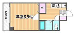 岡山県岡山市北区絵図町の賃貸マンションの間取り