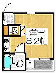 ハイツMATSUNAMI[102号室]の間取り