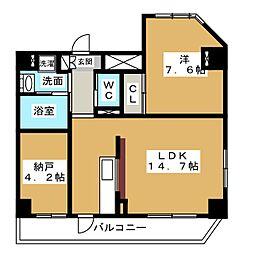 GRAND COURT MG[2階]の間取り