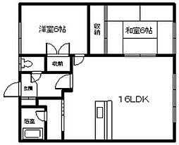 柴ハイツ[2階]の間取り