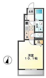 木更津市長須賀593番1新築アパート[106号室]の間取り