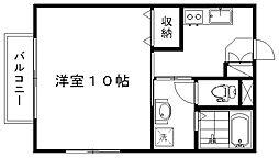 エトワール沼垂[2階]の間取り
