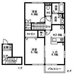 メゾン・ド・シャルム[2階]の間取り