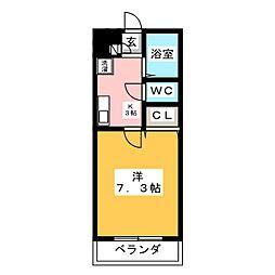 メゾンテンペル[2階]の間取り