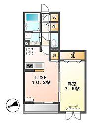 エポラール東別院[3階]の間取り