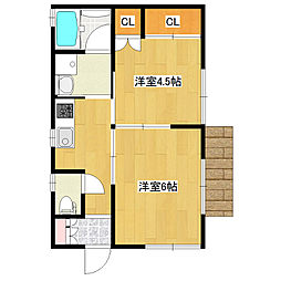サンハウス[1階]の外観