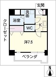 ESSE植田[8階]の間取り
