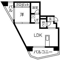 KRISKAR 4階1LDKの間取り