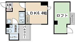 リセス大阪イースト 8階1LDKの間取り