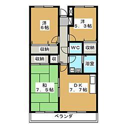 アバンデンス[4階]の間取り
