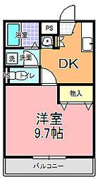 YNコート袴塚[105号室]の間取り