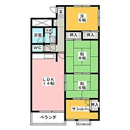 メゾン伊東屋[3階]の間取り