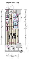 プレサンス立売堀パークシティ[11階]の間取り
