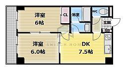 パシフィック高井田本通[5階]の間取り