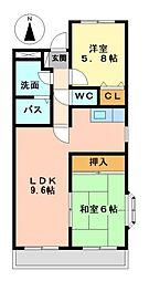 エステート8[1階]の間取り