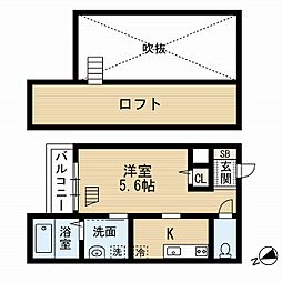 福岡県福岡市東区和白5丁目の賃貸アパートの間取り