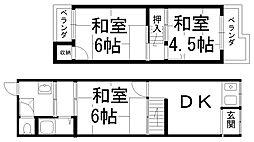 [テラスハウス] 大阪府寝屋川市黒原新町 の賃貸【/】の間取り