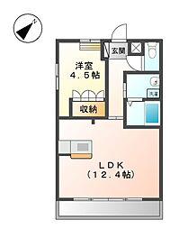 ヒルズ四ツ塚[2階]の間取り