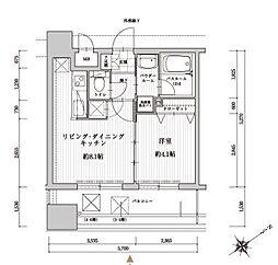 アクタス天神北[8階]の間取り