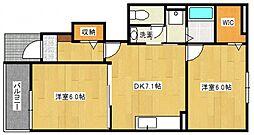 ソーレ1号館[2階]の間取り
