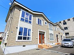 北海道岩見沢市南町八条2丁目の賃貸アパートの外観