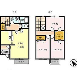 [テラスハウス] 鹿児島県霧島市国分福島3丁目 の賃貸【/】の間取り