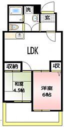 ノアハヤシII[2階]の間取り