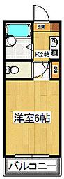大野武田マンション[206号室]の間取り