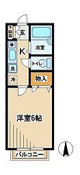 東京都府中市美好町3丁目の賃貸マンションの間取り