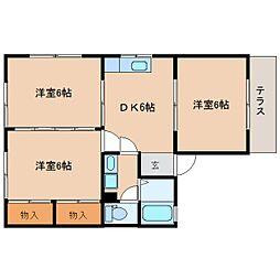 静岡県静岡市清水区西久保の賃貸マンションの間取り