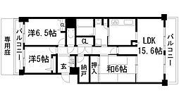 兵庫県宝塚市仁川北2丁目の賃貸マンションの間取り