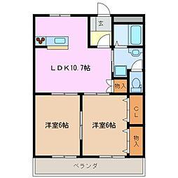 GRAND HILL21[1階]の間取り