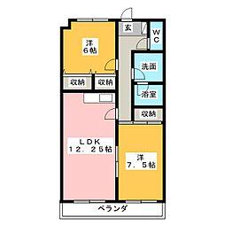 千波第一マンション[4階]の間取り