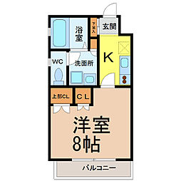 リエス千代田橋[3階]の間取り
